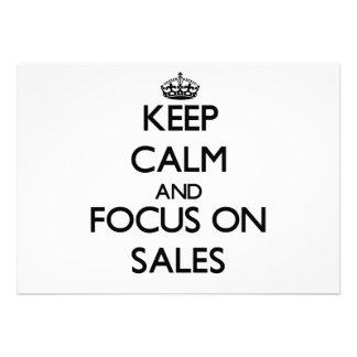 Mantenha a calma e o foco em vendas