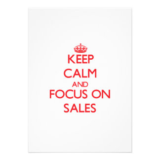 Mantenha a calma e o foco em vendas convite personalizado