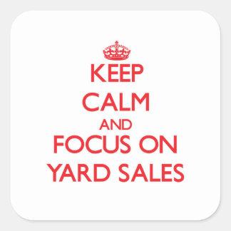 Mantenha a calma e o foco em vendas de jardim adesivo quadrado