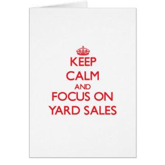 Mantenha a calma e o foco em vendas de jardim cartão comemorativo