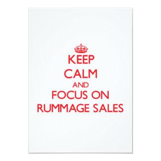 Mantenha a calma e o foco em vendas Rummage Convites Personalizados