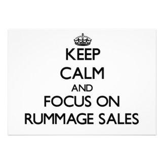 Mantenha a calma e o foco em vendas Rummage