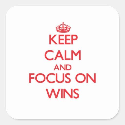 Mantenha a calma e o foco em vitórias adesivos