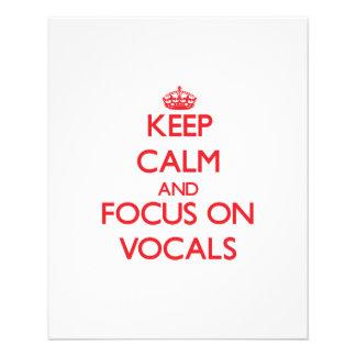 Mantenha a calma e o foco em Vocals Panfleto Personalizado