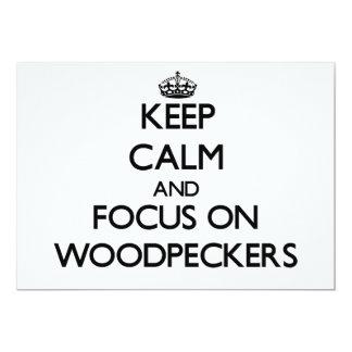 Mantenha a calma e o foco em Woodpeckers Convites