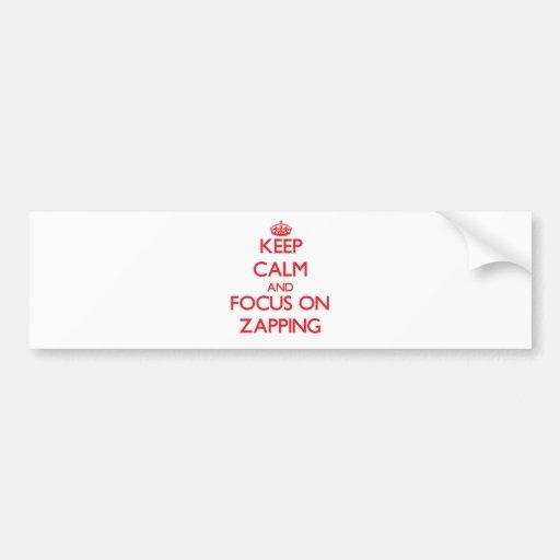 Mantenha a calma e o foco em Zapping Adesivos