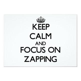 Mantenha a calma e o foco em Zapping Convite Personalizado