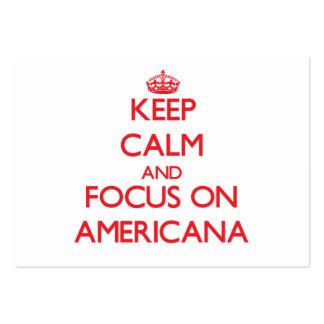 Mantenha a calma e o foco na AMERICANA