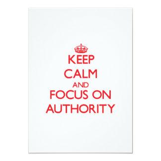 Mantenha a calma e o foco na AUTORIDADE Convite Personalizado