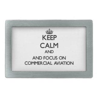 Mantenha a calma e o foco na aviação comercial