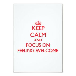 Mantenha a calma e o foco na boa vinda do convite personalizado