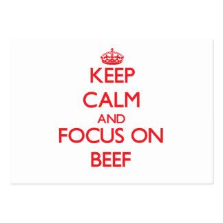 Mantenha a calma e o foco na carne
