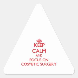 Mantenha a calma e o foco na cirurgia estética adesivo triangular