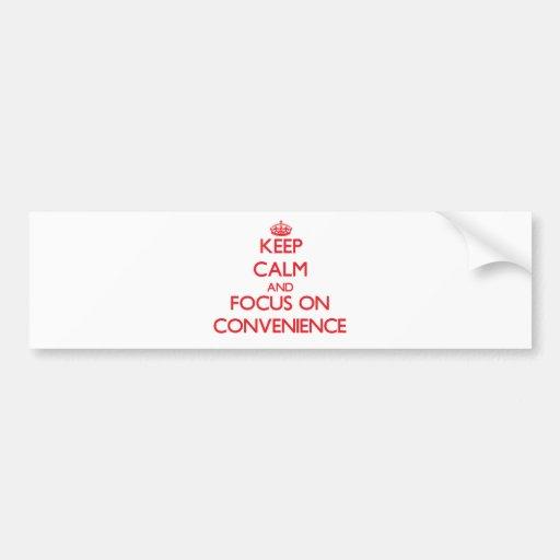 Mantenha a calma e o foco na conveniência adesivo