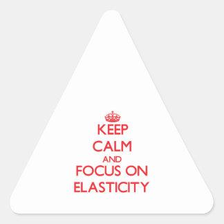 Mantenha a calma e o foco na ELASTICIDADE Adesivos Triângulo