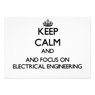 Mantenha a calma e o foco na engenharia elétrica convite