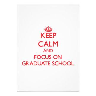 Mantenha a calma e o foco na escola