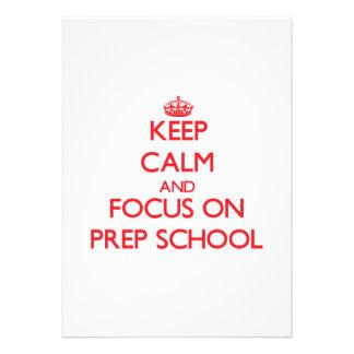 Mantenha a calma e o foco na escola de preparação