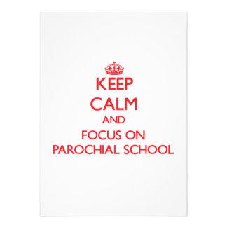 Mantenha a calma e o foco na escola paroquial