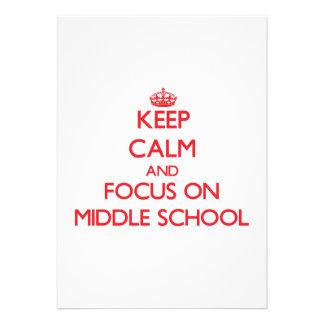 Mantenha a calma e o foco na escola secundária