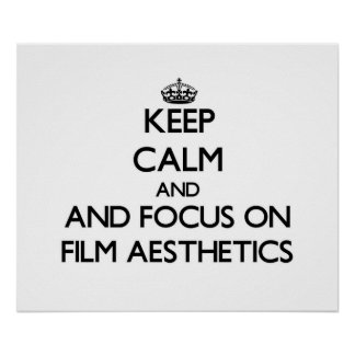 Mantenha a calma e o foco na estética do filme impressão