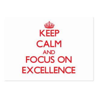 Mantenha a calma e o foco na EXCELÊNCIA Cartão De Visita