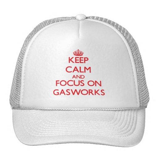 Mantenha a calma e o foco na fábrica de gás bone