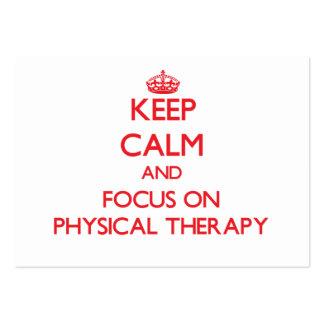 Mantenha a calma e o foco na fisioterapia