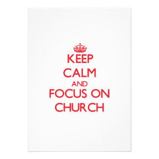 Mantenha a calma e o foco na igreja