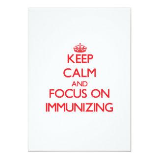 Mantenha a calma e o foco na imunização convite personalizado