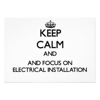 Mantenha a calma e o foco na instalação elétrica convites personalizados