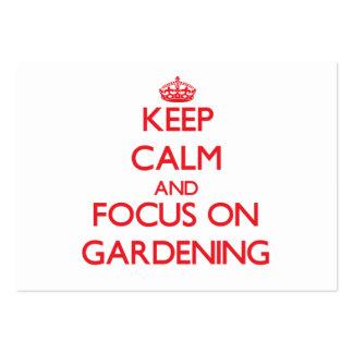 Mantenha a calma e o foco na jardinagem