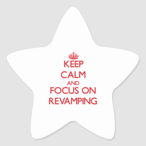 Mantenha a calma e o foco na melhora adesivo estrela