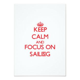 Mantenha a calma e o foco na navigação convites