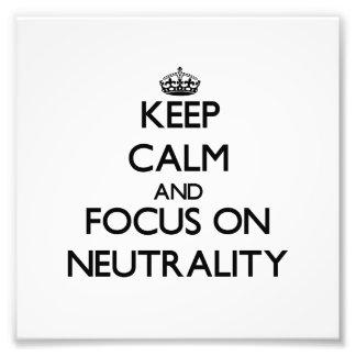 Mantenha a calma e o foco na neutralidade fotos