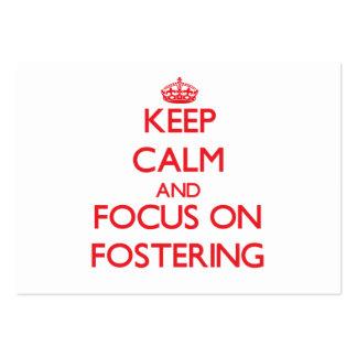 Mantenha a calma e o foco na promoção