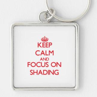 Mantenha a calma e o foco na protecção chaveiro