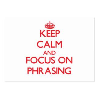 Mantenha a calma e o foco na redacção