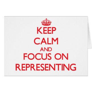 Mantenha a calma e o foco na representação