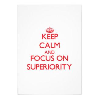 Mantenha a calma e o foco na superioridade convites