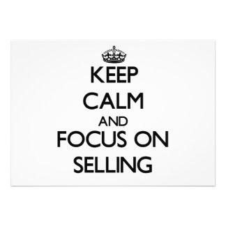 Mantenha a calma e o foco na venda