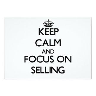 Mantenha a calma e o foco na venda convites personalizados