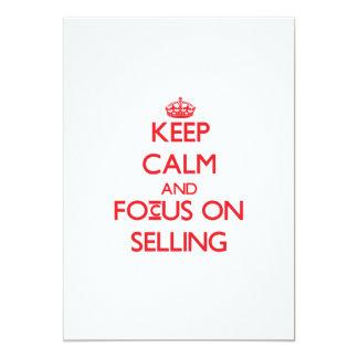 Mantenha a calma e o foco na venda convite personalizado