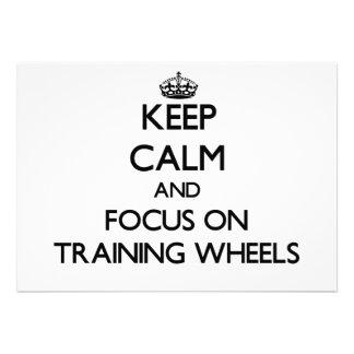Mantenha a calma e o foco nas rodas de treinamento