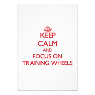 Mantenha a calma e o foco nas rodas de treinamento convite personalizado