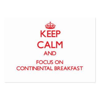 Mantenha a calma e o foco no almoço completo cartões de visita
