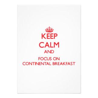 Mantenha a calma e o foco no almoço completo