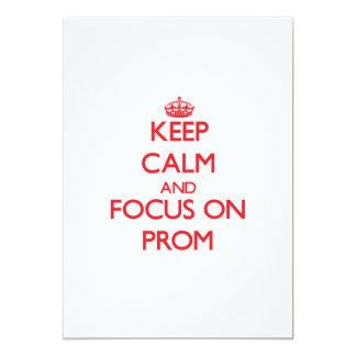 Mantenha a calma e o foco no baile de formatura convites personalizado