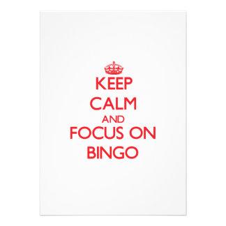 Mantenha a calma e o foco no Bingo