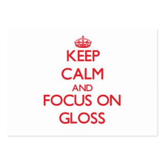 Mantenha a calma e o foco no brilho